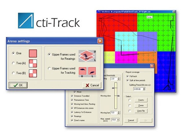Infrared Actimeter System - Actitrack software